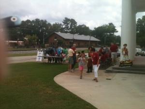Registration line at Hampton Launch